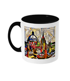 Oxford Spires mug with black handle