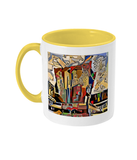 Physics Oxford College Mug with yellow handle