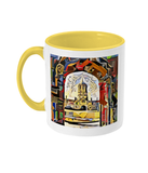 Oxford university yellow mug Christ Church college Oxford
