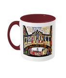 Two toned mug with oxford art