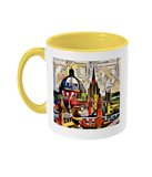 Oxford Spires mug with yellow handle