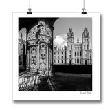 B&W poster print of Oxford All Souls College