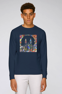 All Souls College Oxford navy Sweatshirt with art design