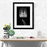 Black and White Print All Souls College Oxford