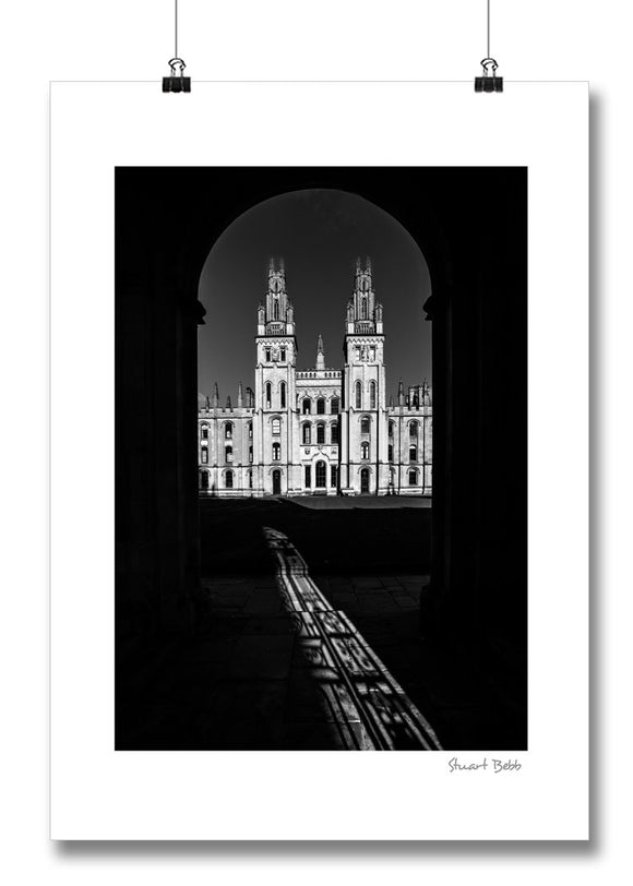 B&W Print All Souls College Oxford
