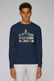 Oxford sweatshirt with art design of Ashmolean museum