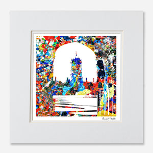 Avant-Garde art print Chirst church college Oxford