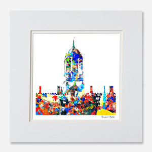 Avant-Garde Art Print Tom Tower Christ church college oxford