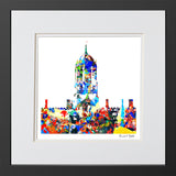 Framed Avant-garde art print Tom Tower Christ church college  Oxford