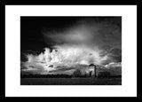 B&W Print Trow Pool Water Tower Oxfordshire