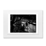 Black and White Silhouette print punting Oxford