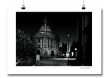 B&W Print of Oxford Radcliffe Camera Square, taken at night