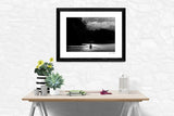 Black and white fine art print rower Oxford