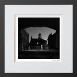 Black and white art print sheldonian Oxford university