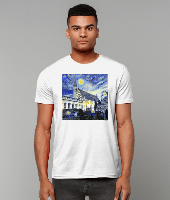 Balliol College Oxford University Men's white organic cotton t-shirt with art design