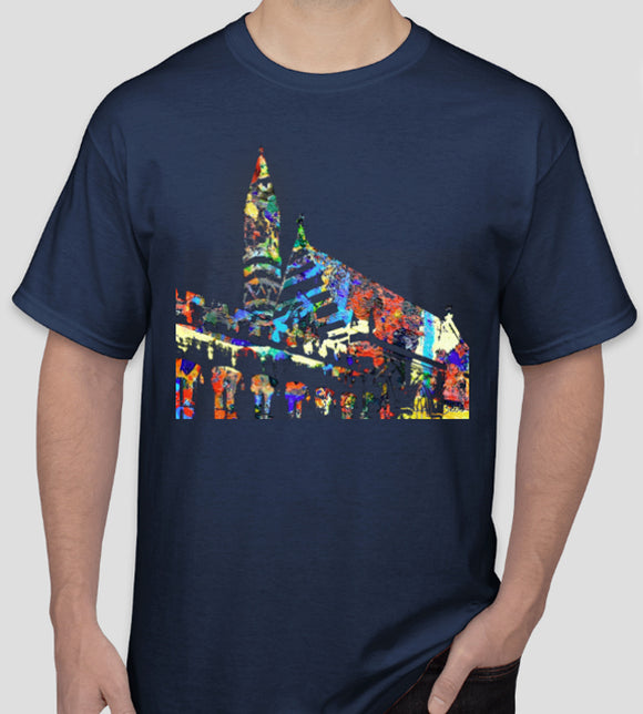 Balliol College Oxford university gift or souvenir navy t-shirt