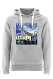 Balliol College Oxford University unisex grey organic cotton hoodie