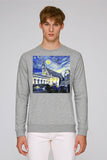 Balliol College Oxford men's grey organic cotton sweatshirt with art design