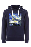 Balliol College Oxford navy unisex organic cotton hoodie