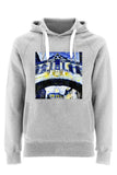 Hertford College Bridge of Sighs Oxford unisex grey organic cotton hoodie