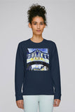 Hertford College Bridge of Sighs Oxford Ladies navy organic cotton sweatshirt with art design