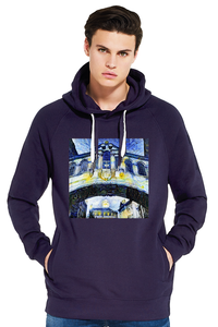 Hertford College Bridge of Sighs Oxford Women's grey organic cotton hoodie