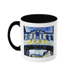Bridge of Sighs Oxford Alumni mug with black handle