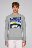 Hertford College Bridge of Sighs Oxford men's grey organic cotton sweatshirt with art design