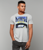 Hertford College Bridge of Sighs Oxford Men's grey organic cotton t-shirt with art design