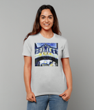 Hertford College Bridge of Sighs Oxford women's grey organic cotton t-shirt with art design