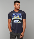 Hertford College Bridge of Sighs Oxford Men's navy organic cotton t-shirt with art design