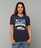 Hertford College Bridge of Sighs Oxford Ladies navy organic cotton t-shirt with art design