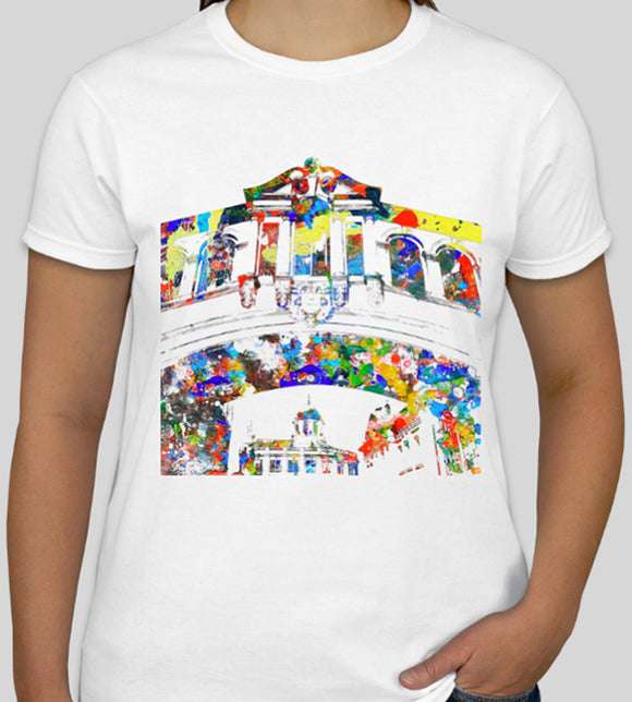 Bridge of Size Oxford white eco friendly T-shirt, souvenir or ideal gift