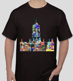 Tom Tower Christ Church College Oxford university black t-shirt, ideal gift or souvenir