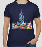 Tom Tower Christ Church College Oxford university navy t-shirt ideal student gift or souvenir