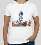 Tom Tower Christ Church College Oxford white t-shirt, ideal graduation gift or souvenir