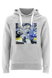 Christ Church College Oxford University unisex grey organic cotton hoodie with art design