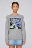 Christ Church College Oxford University women's grey organic cotton sweatshirt with art design