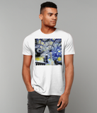 Christ Church College Oxford University men's white organic cotton t-shirt with art design