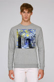 Corpus Christi College Oxford grey organic cotton sweatshirt with art design