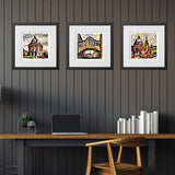 Contemporary Art Print Sheldonian Rooftops Oxford