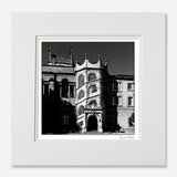 Black and white print Hertford College Oxford