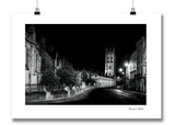 B&W print Oxford High Street with Magdalen Tower