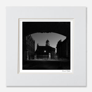 B&W print Sheldonian Theatre Oxford