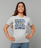 Oxford University Ladies organic cotton grey t-shirt with art design