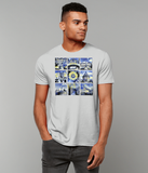 Oxford University Men's organic cotton grey t-shirt with art design