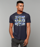 Oxford University Men's organic cotton navy t-shirt with art design