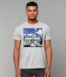 Oriel College Oxford University Men's grey organic cotton t-shirt with art design