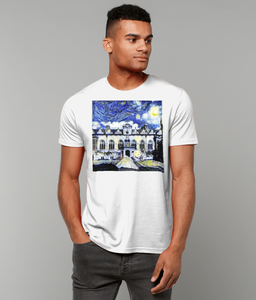 Oriel College Oxford University Men's white organic cotton t-shirt with art design