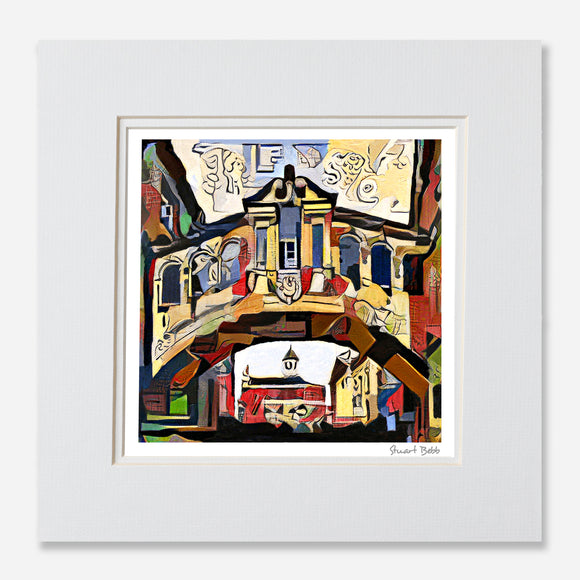 Modern art print Oxford bridge of Sighs